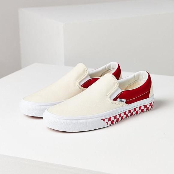 8e07805060cf Vans Slip-On Red Checkerboard Print. M 5b57aa1e6a0bb70c4fe94fff